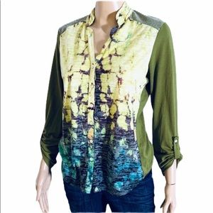 TIE DYE SEQUINED BOHEMIAN TOP SMALL